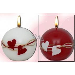 Lima Valentýnská vonná svíčka červená koule 60 mm 1 kus