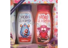 Bohemia Gifts & Cosmetics Příšerky sprchový gel 250 ml + vlasový šampon 250 ml