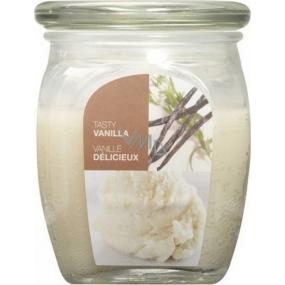 Bolsius Aromatic Tasty Vanilla - Vanilka vonná svíčka ve skle 92 x 120 mm 830 g, doba hoření 100 hodin