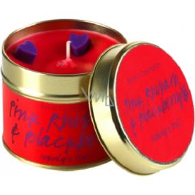 Bomb Cosmetics Růžová rebarbora a ostružina Vonná přírodní, ručně vyrobena svíčka v plechové dóze hoří až 35 hodin