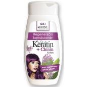 Bione Cosmetics Keratin & Chinin regenerační kondicionér na vlasy 260 ml