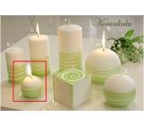 Lima Aromatická spirála Konvalinka svíčka bílo - zelená koule 60 mm 1 kus