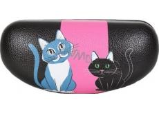 Albi Original Pouzdro na brýle Kočka, imitace kůže, 15,5 x 7,5 x 5,5 cm