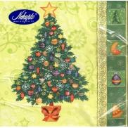 Nekupto Papírové ubrousky vánoční zelené stromek 3 vrstvé 33 x 33 cm 20 kusů