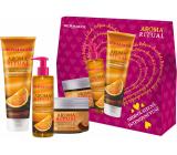 Dermacol Aroma Ritual Belgická čokoláda sprchový gel 250 ml + tekuté mýdlo 250 ml + tělový peeling 200 ml, kosmetická sada
