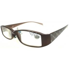 Berkeley Čtecí dioptrické brýle +3,50 hnědé plastové 1 kus MC2104