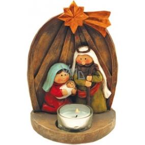 Betlém na čajovou svíčku 17 x 12 cm