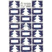 Arch Stromeček modrý vánoční samolepky na dárky 20 etiket 1 arch
