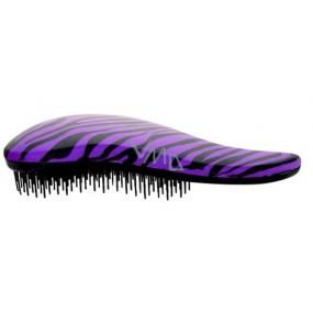 Dtangler Detangling Brush Kartáč pro snadné rozčesání vlasů 18,5 cm fialovo-černý