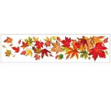 Room Decor Okenní fólie pruh s podzimním listím 59 x 15 cm č.1