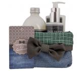 Bohemia Gifts & Cosmetics Gentleman sprchový gel pro muže 250 ml + šampon na vlasy 250 ml + pěna do koupele 500 ml + látkový košík, kosmetická sada