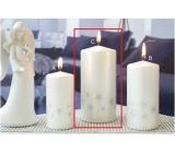 Lima Starlight svíčka bílá/stříbrná válec 70 x 150 mm 1 kus