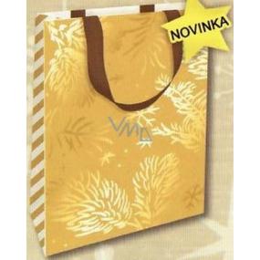 Nekupto Dárková papírová taška s ražbou 18 x 11 x 8 cm Vánoční 1737 WLFS