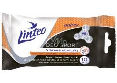 Linteo Deo Sport pro denní potřebu s ionty stříbra unisex vlhčené ubrousky 10 kusů