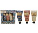 Heathcote & Ivory Strawberry Thief vyživující krém na ruce a nehty 3 x 30 ml kosmetická sada