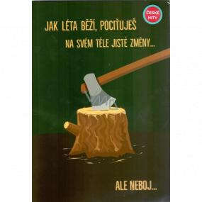 Albi Hrací přání do obálky K narozeninám Přání se dřevorubcem Život je takovej Tři sestry 14,8 x 21 cm