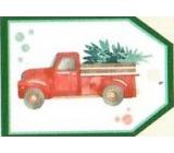 Nekupto Vánoční kartičky na dárky Auto se stromkem 5,5 x 7,5 cm 6 kusů