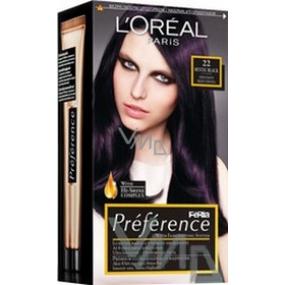 Loreal Paris Préférence Féria barva na vlasy 22 mystic black černo - fialová