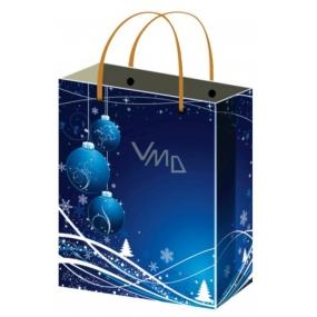 Anděl Taška vánoční dárková modrá baňky L 32 x 26 x 12,7 cm