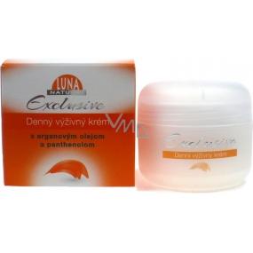 Luna Natural Exclusive denní výživný krém s arganovým olejem a panthenolem pro normální až suchou pleť 50 ml