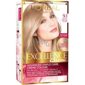 Loreal Paris Excellence Creme barva na vlasy 9.1 blond velmi světlá popelavá
