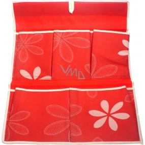 Kapsář 320 červený látkový 44 x 35 cm 5 kapes