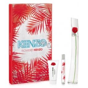 Kenzo Flower By Kenzo parfémovaná voda pro ženy 100 ml + tělové mléko 50 ml + parfémovaná voda 15 ml, dárková sada