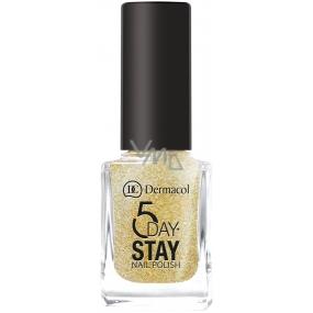 Dermacol 5 Day Stay Dlouhotrvající lak na nehty 14 Gold Tiara 11 ml