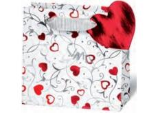 BSB Dárková papírová taška velká 36 x 26 x 14 cm Srdce LDT 362-A4