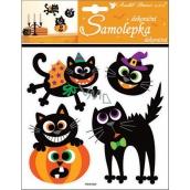 Room Decor Samolepky Halloween kočky 23 x 18 cm