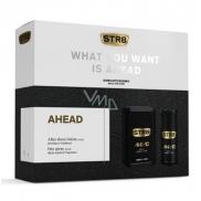 Str8 Ahead voda po holení pro muže 100 ml + deodorant sprej 150 ml, kosmetická sada