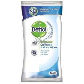Dettol Antibakteriální čisticí ubrousky na povrchy 36 kusů