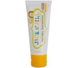 Jack N Jill BIO Banán přírodní zubní pasta pro děti 50 g