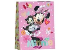 BSB Dárková papírová taška pro děti velká Disney Minnie s kocourem 32,4 x 26 x 12 cm DT L
