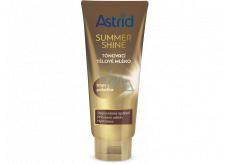 Astrid Summer Shine Tónovací tělové mléko tmavá pokožka 200 ml