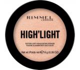 Rimmel London High'light rozjasňovač 002 Candlelit 8 g