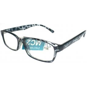 Berkeley Čtecí dioptrické brýle +1,0 černé tygrovité 1 kus MC2101