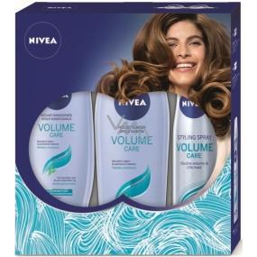 Nivea Volume Care šampon 250 ml + kondicionér 200 ml + Volume Sensation lak na vlasy 250 ml, kosmetická sada