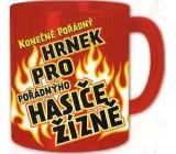 Nekupto Dárky s humorem Hrnek maxi Konečně pořádný hrnek pro hasiče žízně 0,8 l, FX 011