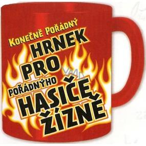 Nekupto Dárky s humorem Hrnek maxi Konečně pořádný hrnek pro hasiče žízně 0,8 l