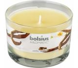 Bolsius Aromatic Vanilla - Vanilka vonná svíčka ve skle 90 x 65 mm 247 g doba hoření cca 30 hodin