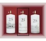 Lima Jubilejní 25 let svíčka Stříbrná svatba Motiv B, 70 x 150 mm 1 kus