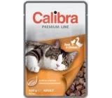 Calibra Premium Kachna s kuřecí příchurí kompletní krmivo pro kočky kapsa 100 g