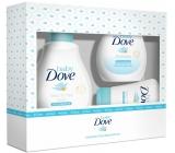 Dove Baby Rich Moisture mycí gel na tělo a vlasy pro děti 200 ml + tělové mléko 200 ml + krém na opruzeniny 45 g, kosmetická sada