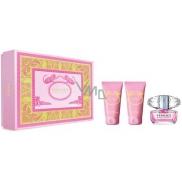 Versace Bright Crystal toaletní voda pro ženy 50 ml + tělové mléko 50 ml + sprchový gel 50 ml, dárková sada