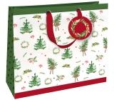 Nekupto Dárková papírová taška luxusní velká 33 x 33 cm Vánoční WLIL 1789
