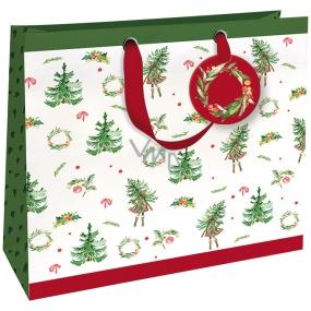 Nekupto Dárková papírová taška luxusní 33 x 33 cm Vánoční WLIL 1789
