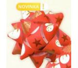 Nekupto Starfish mittlerer Luxus roter Schneemann, Sterne, Bäume 6,5 cm HV 217 30