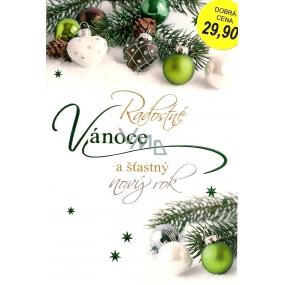Nekupto Přání k Vánocům Radostné Vánoce zelené