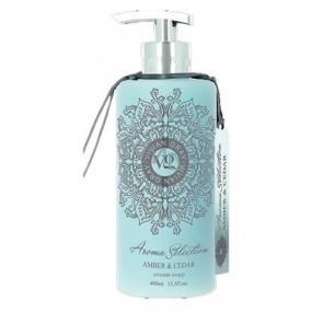 Vivian Gray Aroma Selection Amber & Cedar luxusní tekuté mýdlo s dávkovačem 400 ml